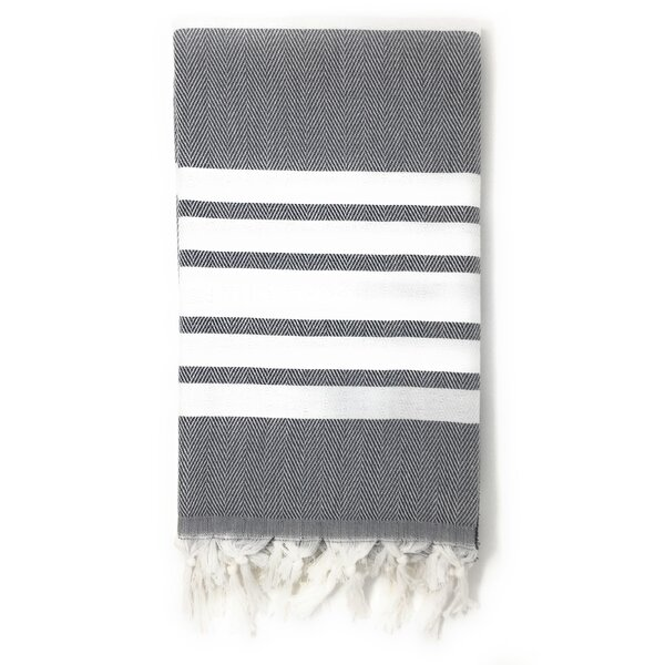 Luxury Pestemal Fouta 100% Cotton Beach Towel by Highland Dunes
